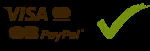 Paiement sécurisé Visa, Mastercard, Carte Bleue, Paypal